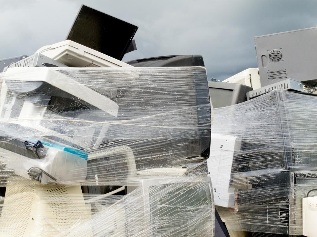 This is a picture of an electronics recycling.
